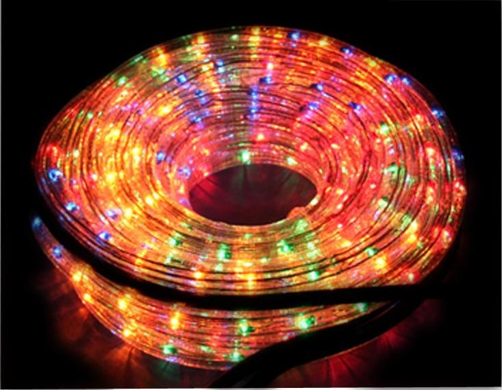 Guirlande en forme de tube multicolore for Tube lumineux exterieur
