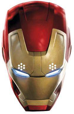 Masque Carton Adulte Iron Man