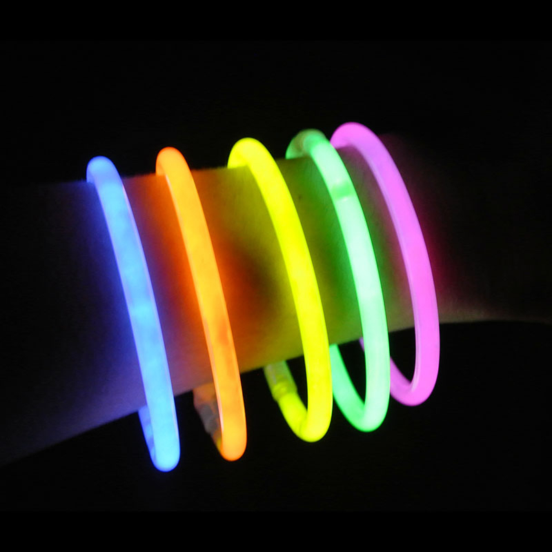 Boîte de 100 bracelets lumineux fluo multicolores