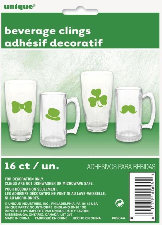 Stickers pour verre Saint Patrick à coller
