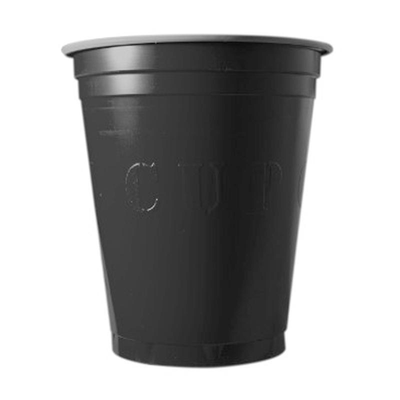 20 gobelets en plastique noir Original Cup pas cher