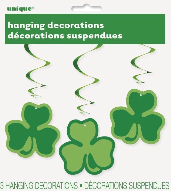 Trèfles verts St Patrick décoration à suspendre