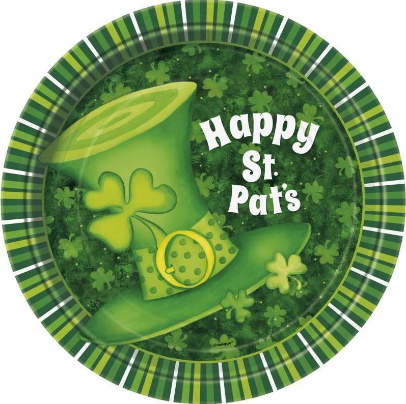 Assiettes en carton Saint Patrick