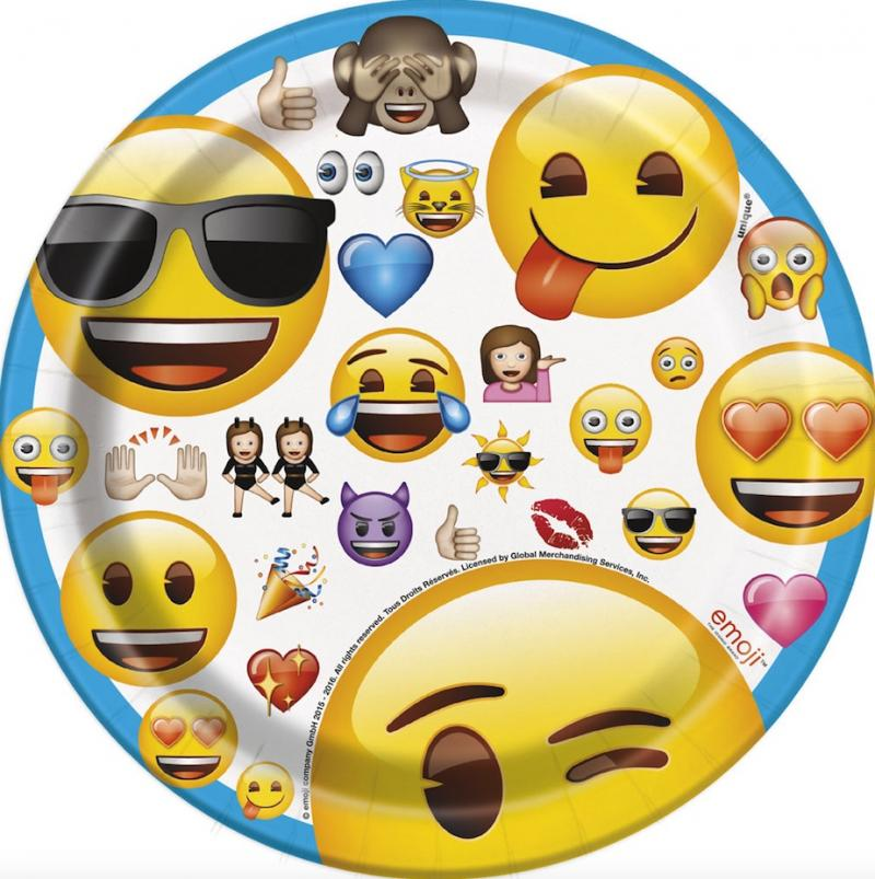 Petites assiettes Emoji Smiley