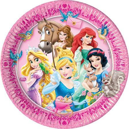 Assiettes anniversaire princesses disney pas cher