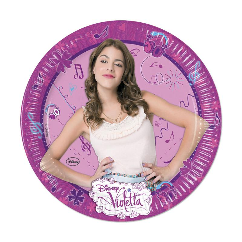 Assiettes Anniversaire Violetta pas cher