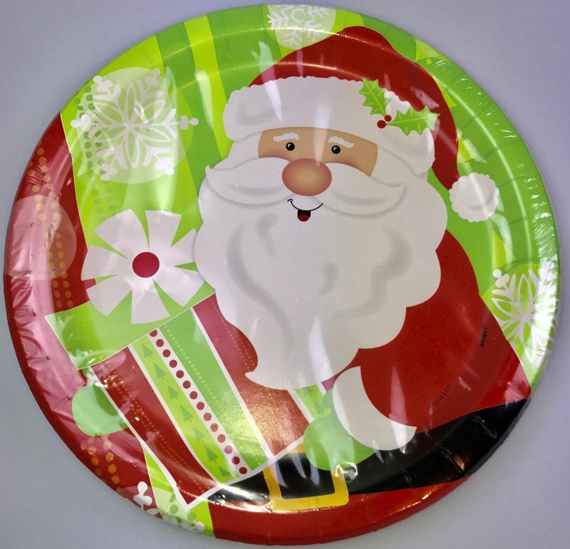 Assiettes Carton Père Noël pas cher