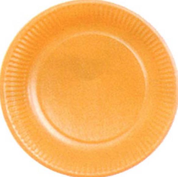 Assiettes en carton de couleur Orange pas cher