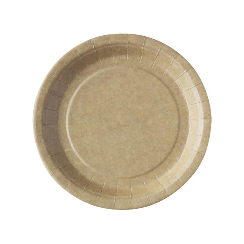 Assiettes en carton kraft biodégradable pas cher