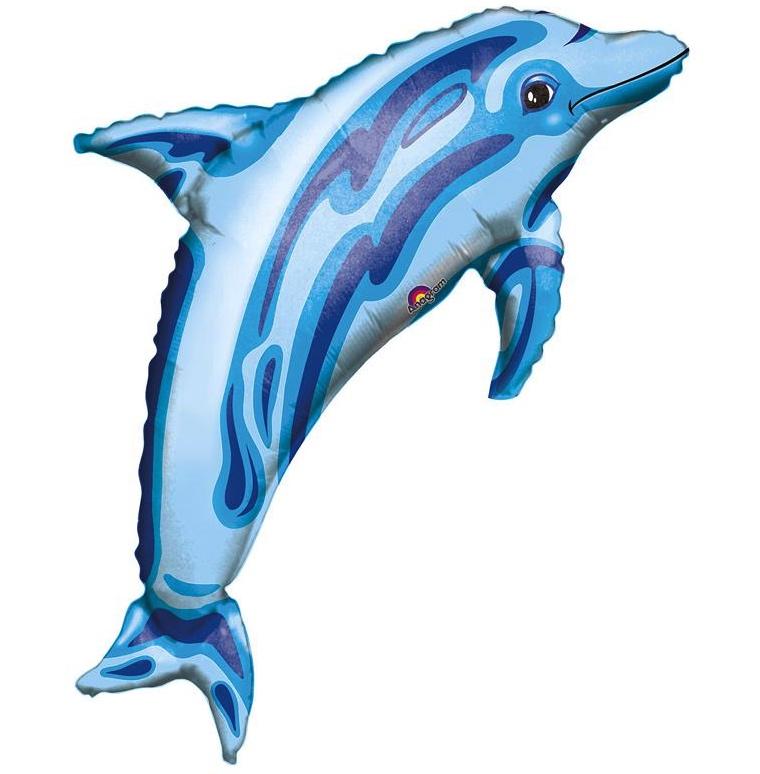 Ballon dauphin bleu pas cher