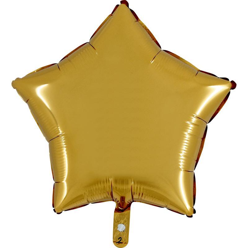 Ballon étoile or aluminium pas cher