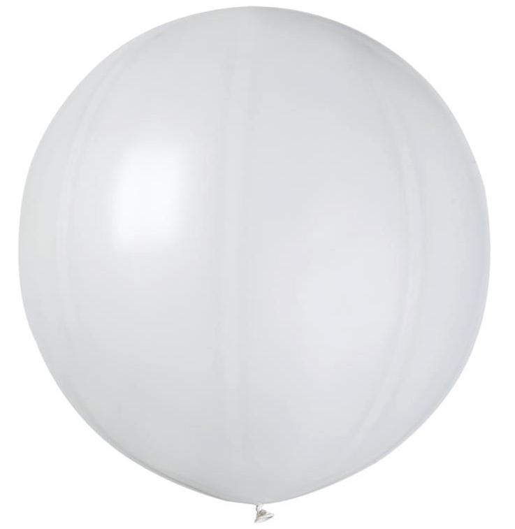 Ballon géant rond blanc pas cher