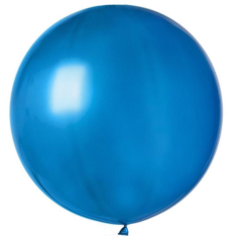Ballon géant rond bleu roi pas cher