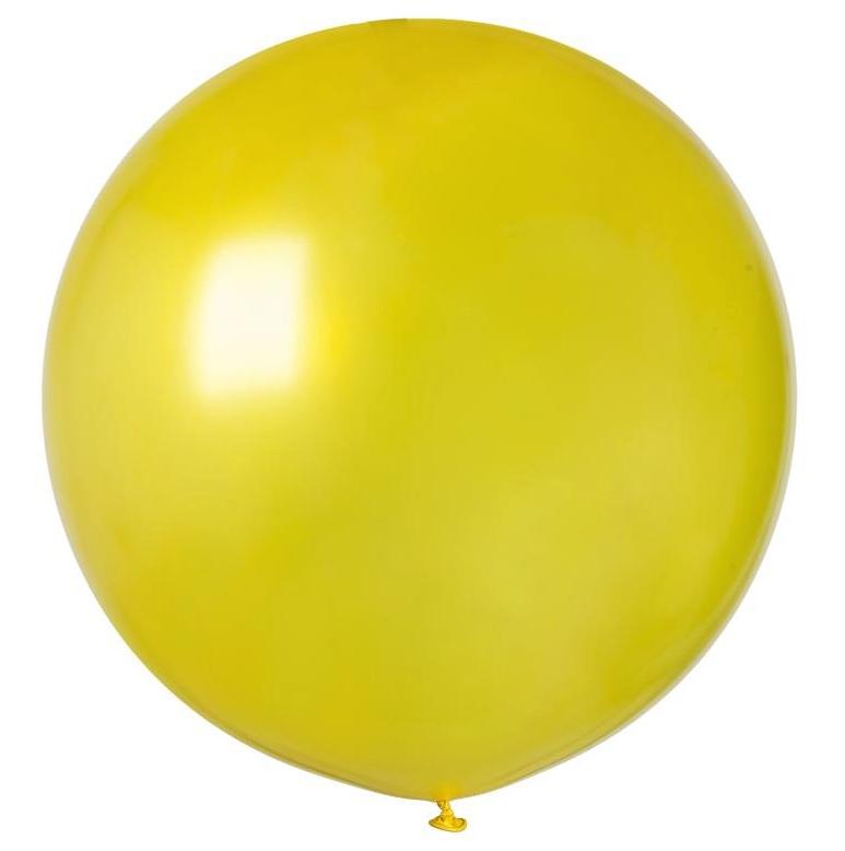 Ballon géant rond jaune pas cher