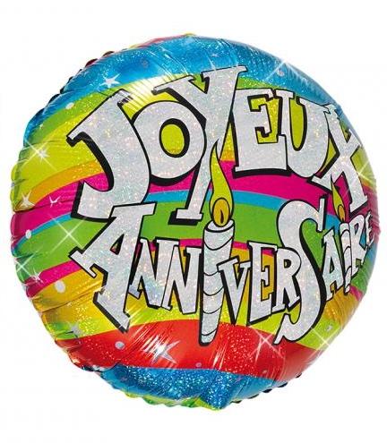 Ballon hélium joyeux anniversaire pas cher