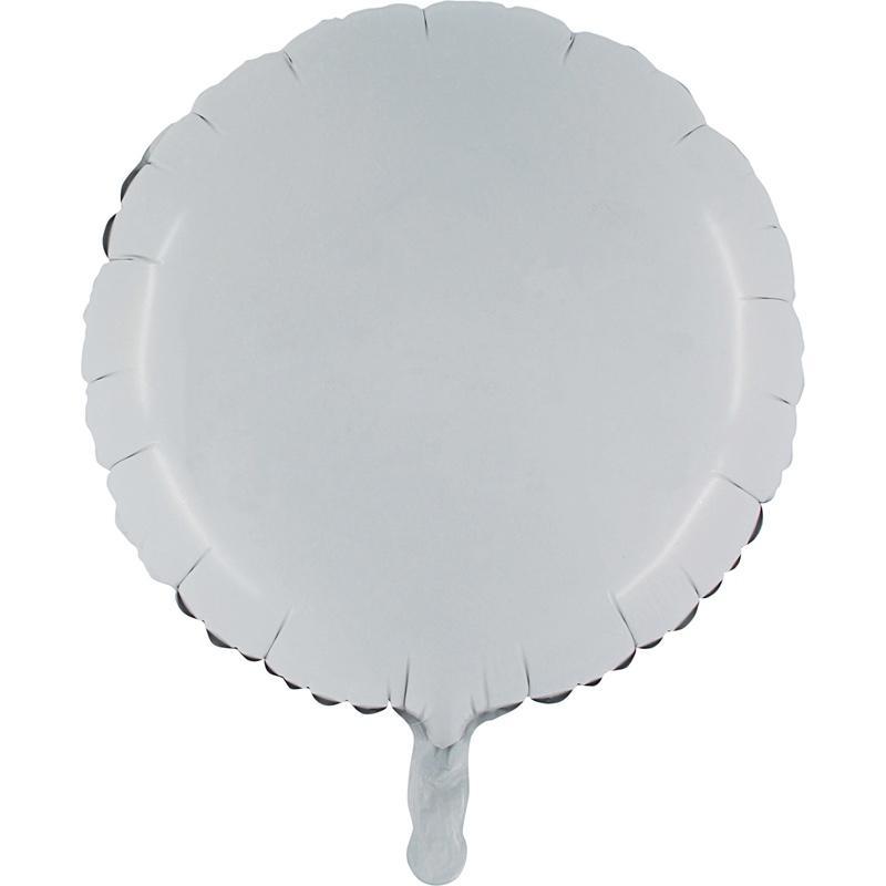Ballon mylar rond blanc pas cher