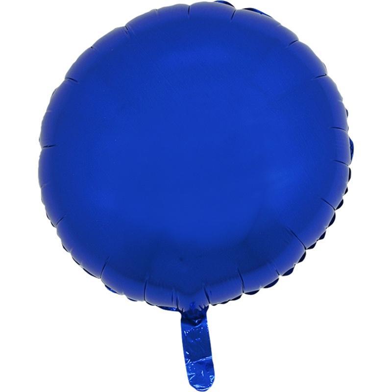 Ballon mylar rond bleu pas cher