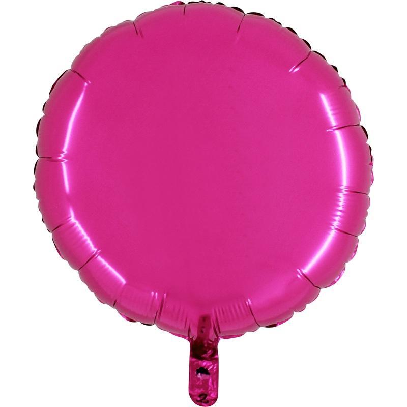 Ballon mylar rond fuchsia