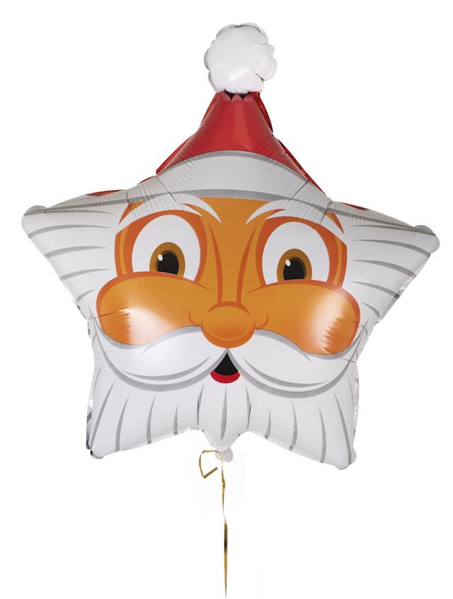 Ballon Père Noël en forme d'étoile pas cher