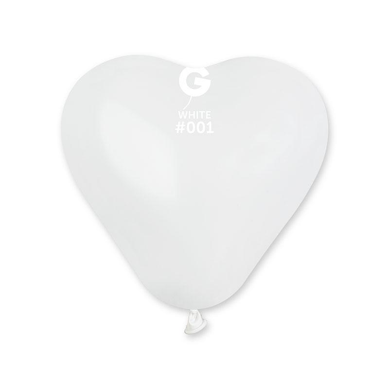 Ballons coeur blanc pas cher