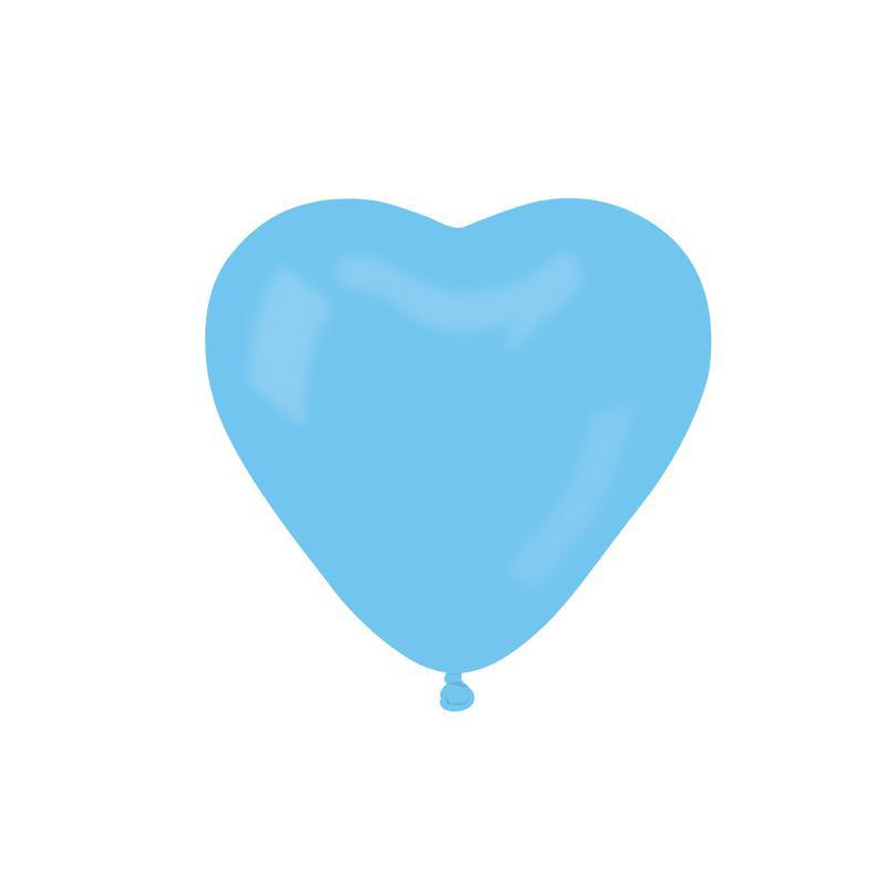ballons coeur bleu pas cher
