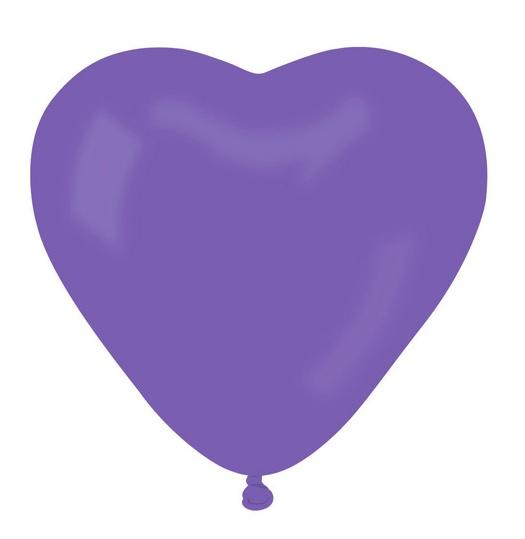 ballons coeur violet pas cher