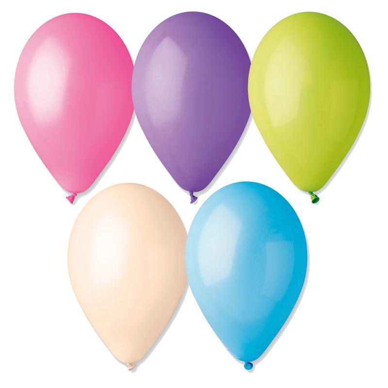 Ballons de baudruche multicolores pastel pas cher