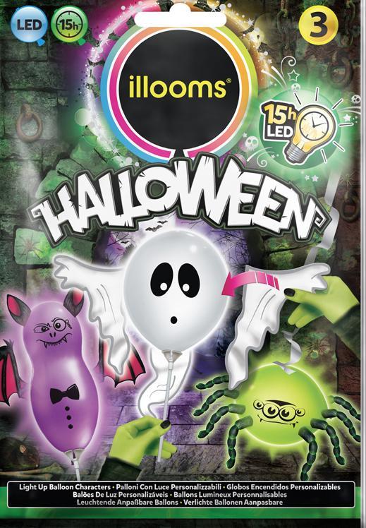 Ballons Fantômes Lumineux (LED) pas cher