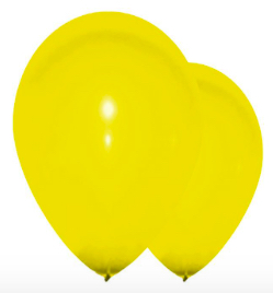 Sachet de ballons Gonflables jaune 1er prix