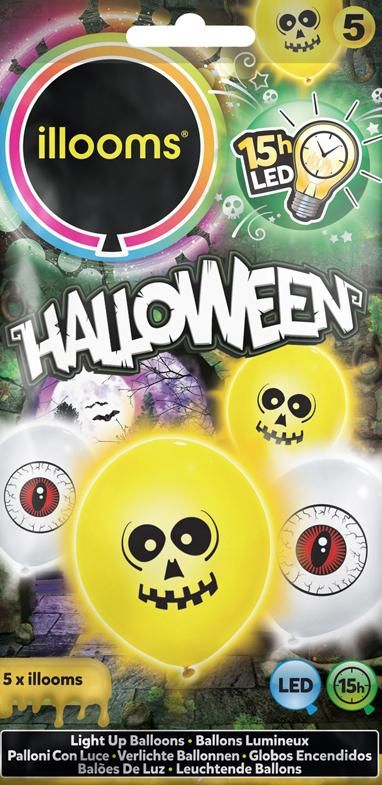 Ballons Halloween Lumineux pas cher