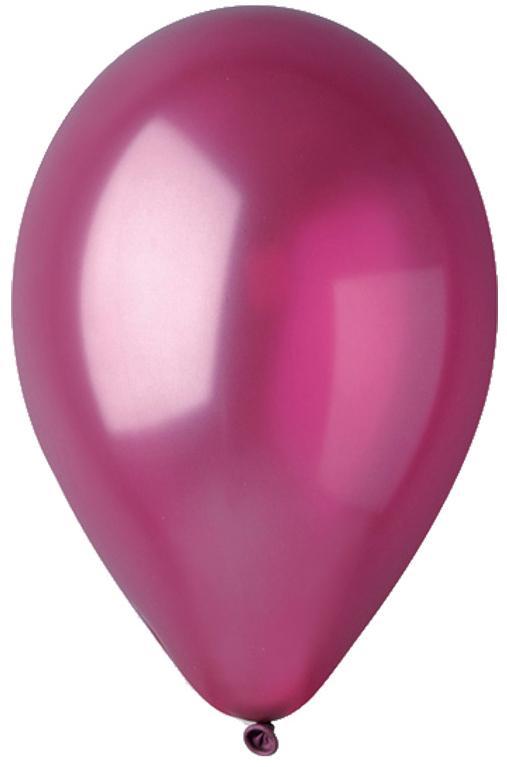 Ballons métallisés bordeaux pas cher