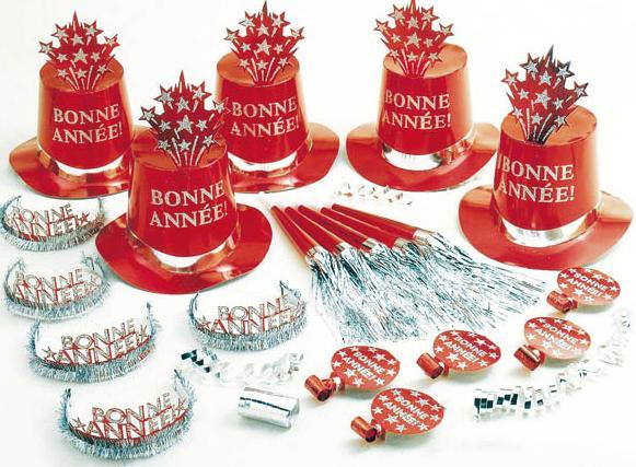 Kit Cotillons Rouge Bonne Année