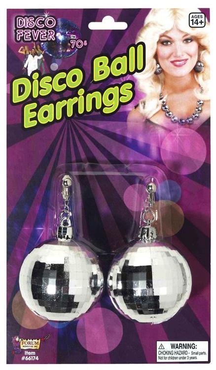 Boucles d'oreilles boules à facettes pas cher