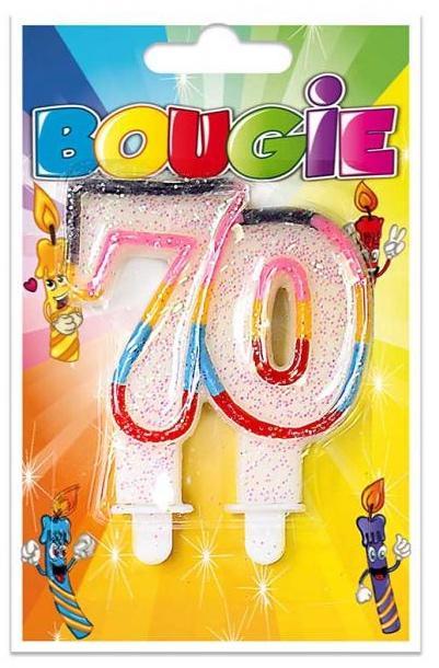 Bougie anniversaire 70 ans pas cher
