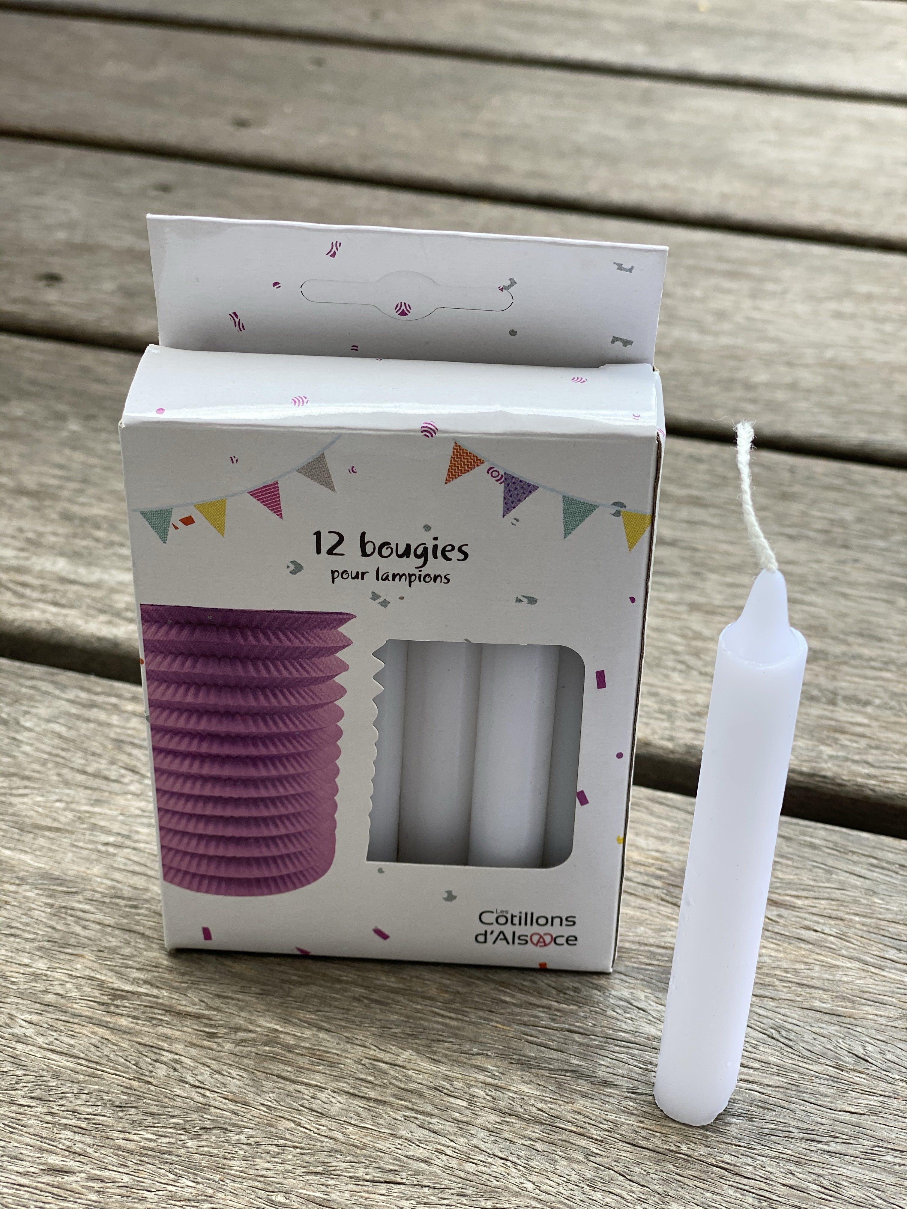 Bougies pour lampion papier pas cher