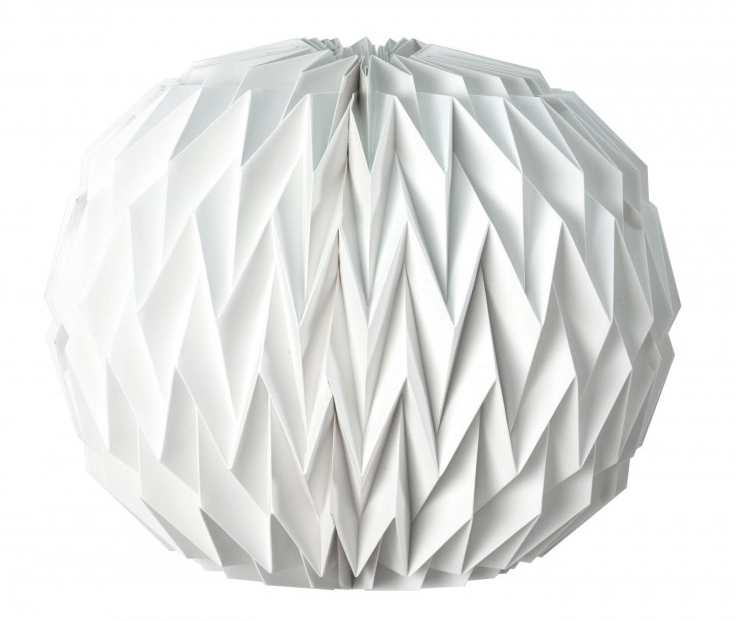 Boule Origami Blanche pas cher