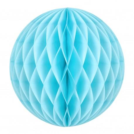 Boule papier alvéolée bleu dragée pas cher