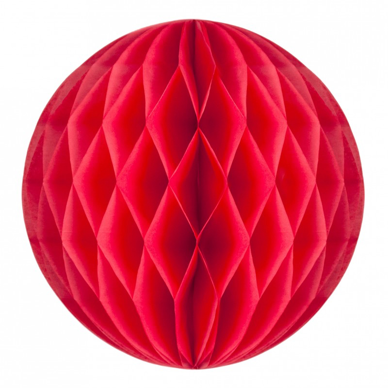 Boule papier alvéolée corail pas cher