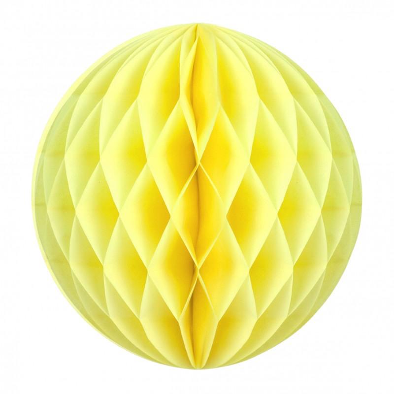 Boule papier alvéolée jaune pas cher