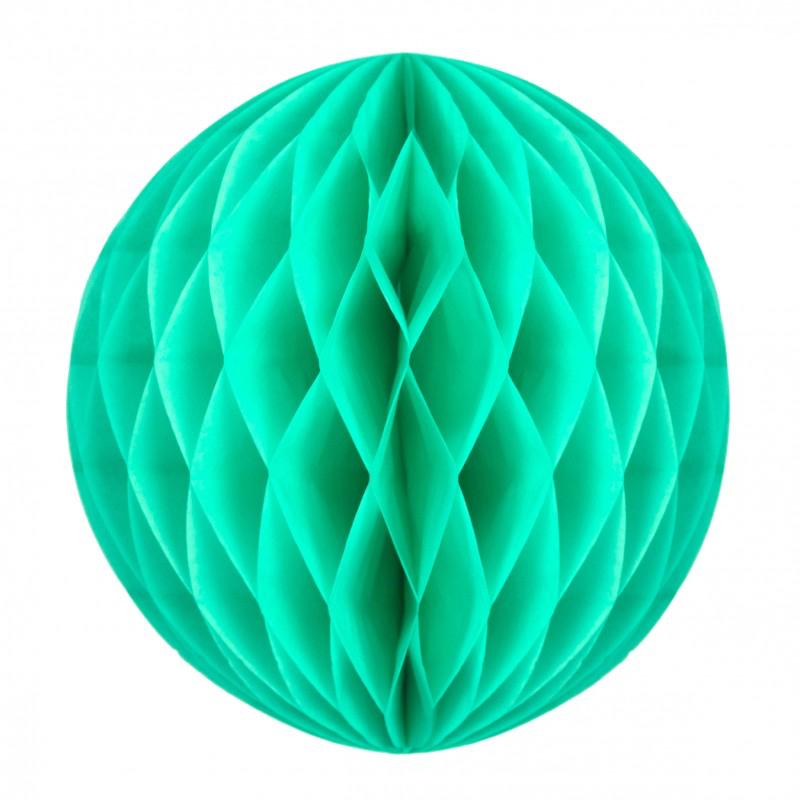 Boule papier alvéolée vert céladon pas cher