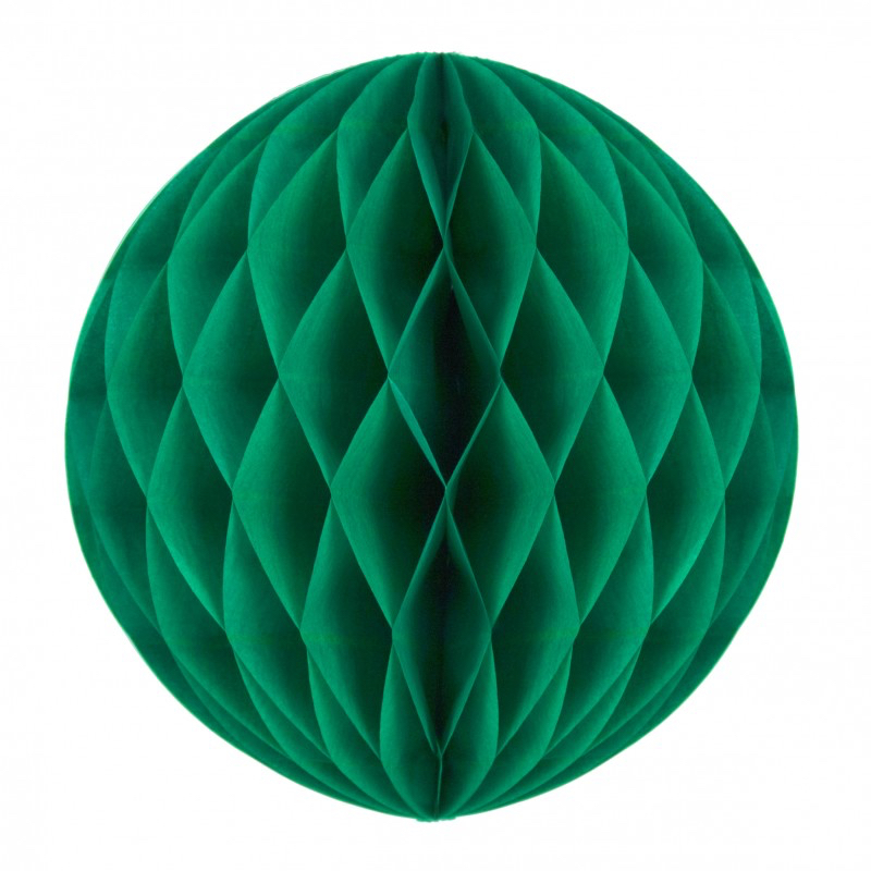 Boule papier alvéolée vert sapin pas cher