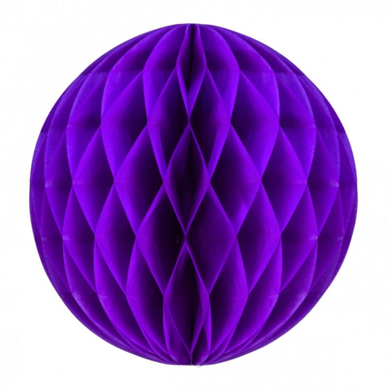 Boule papier alvéolée violet pas cher