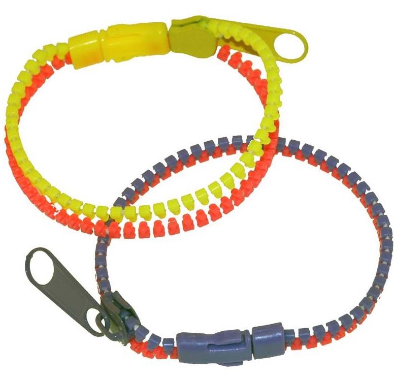 Bracelets zip bicolore pas cher