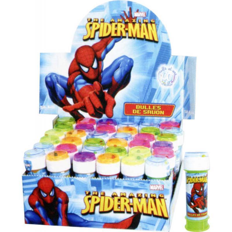 Bulle de savon + jeu de patience Spiderman pas cher