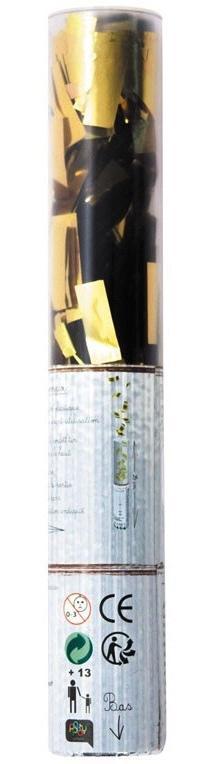 Canon confettis rectangles métallisés or pas cher