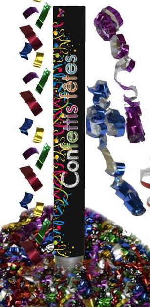 Canon à confettis et serpentins multicolors pas cher