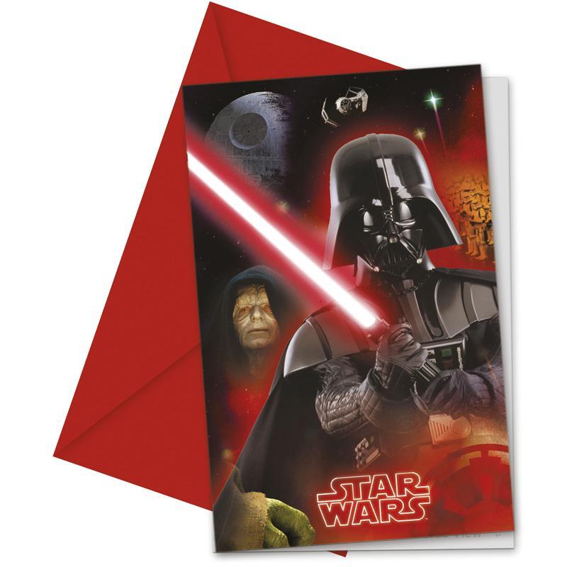 Cartes invitation + enveloppe Star Wars pas cher