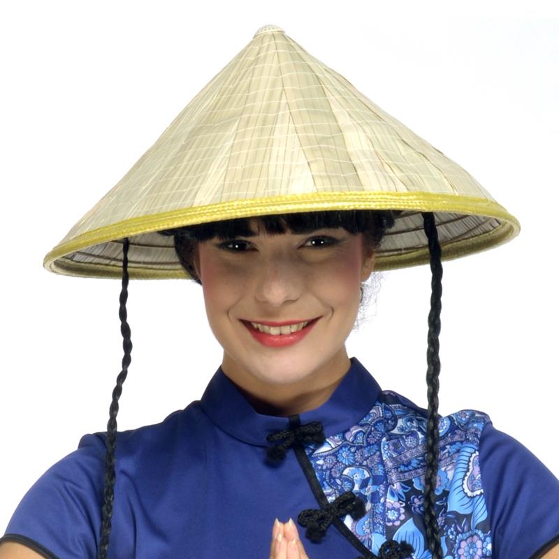Chapeau Asiatique en paille pas cher