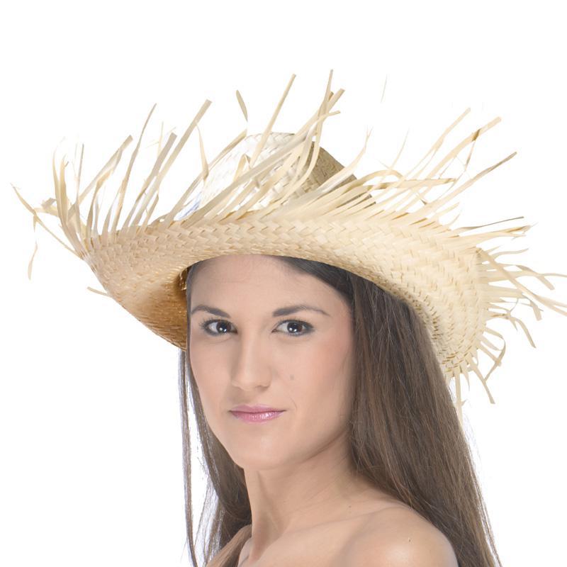 Chapeau caraïbes en feuilles de palmier pas cher