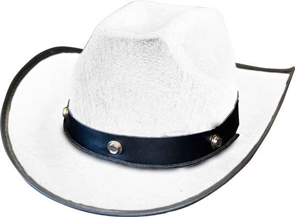 Déguisement : chapeau de cow-boy blanc